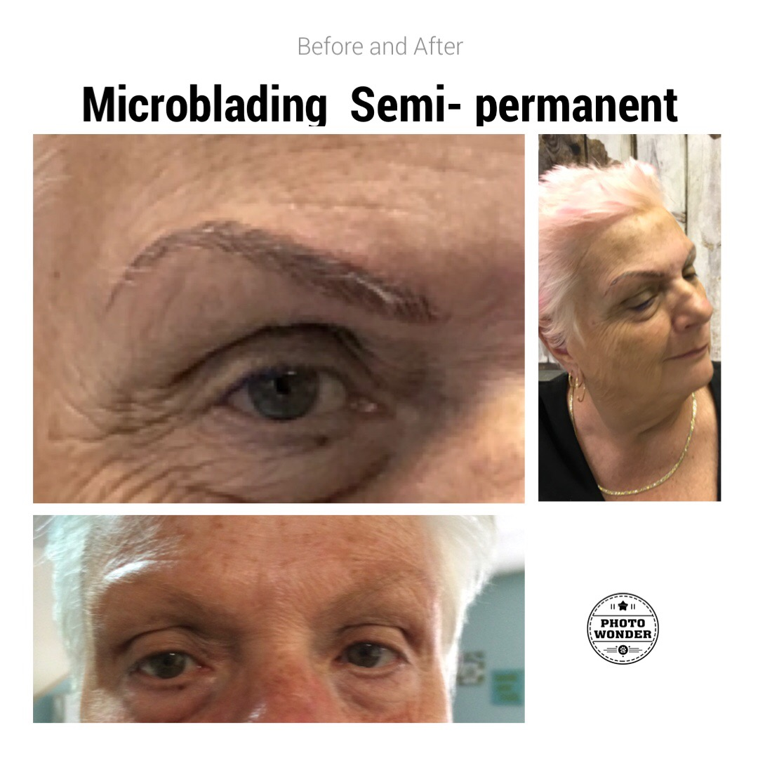 One of our patients after microblading in Fort Myers, FL